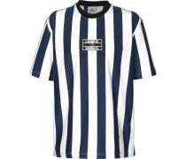 Herren T-Shirt blau weiß