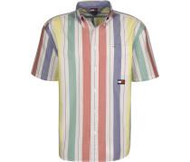 Summer Stripe Herren Kurzarmhemd weiß gestreift