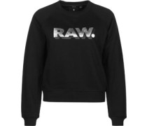 Xula art cropped r sw raglan W Sweater Damen schwarz