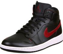 1 Mid Schuhe schwarz rot