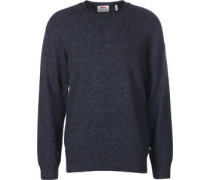 Övik Re Wool trickpulli blau