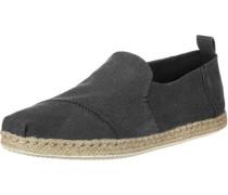 Alpargata Rope Schuhe schwarz