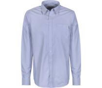 Button Down Langarmhemd blau EU