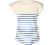 Newport W T-Shirt beige blau gestreift