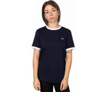 Ringer W T-Shirt blau weiß