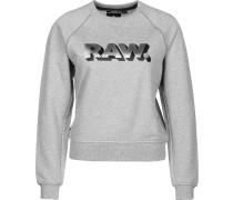 Xula art cropped r sw raglan Sweater Daen grau