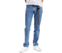 L8 Slim Straight Jeans Herren blue wash EU