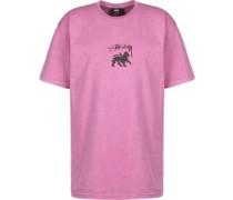 tock Lion Pig. Dyed T-hirt pink
