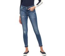 Lynn Mid Skinny Jeans Damen medium aged destory