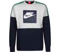 Crew Sweater grau meiert grün