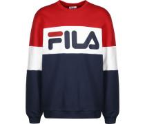 Straight Blocked Herren Sweater rot blau