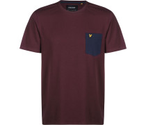Contrast Pocket T-Shirt Herren weinrot yle & Scott Contrast Pocket T-Shirt Herren weinrot L