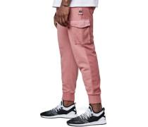 Twoface Cropped Jogginghoe pink