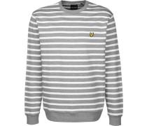 Breton tripe Herren weater weiß grau getreift