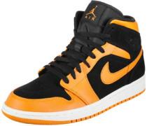 1 Mid Schuhe schwarz orange