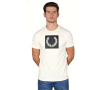 Printed Laurel Wreath T-hirt beige