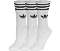 Solid Crew 3er Pack Herren Socken weiß