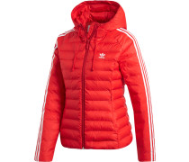 Slim Damen Winterjacke rot