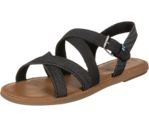 Sicily Damen Sandalen black canvas/denim
