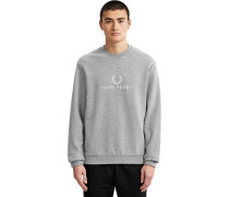Ebroidered Herren Sweater grau eliert