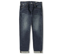 Classic Regular Tapered Rainbow Selvage Jeans dark used special