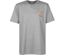 Burning C T-Shirt Herren grau