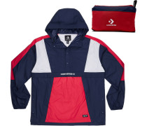 Packable Hooded Windbreaker Herren blau rot weiß