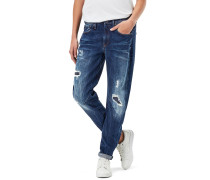 Arc 3d Low Boyfriend Damen Jeans dk aged restored 106