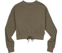 Cropped Crew Daen Sweater oliv