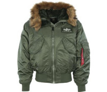 45 P Hooded Jacke grün