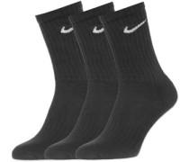 Crew 3er Pack Socken schwarz