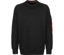 Solid Crew Neck Herren Sweater schwarz