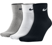 Lightweight Quarter Socken schwarz weiß grau