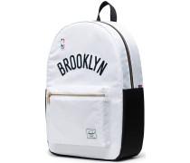 NBA Champions Collection Brooklyn Nets Settlement Rucksack weiß