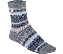 Cotton Jacquard Damen Socken grau meliert