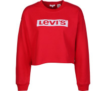 Graphic Raw Cut Crew Sweater Daen rot evi's ® Graphic Raw Cut Crew Sweater Daen rot L
