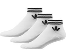 Trefoil Ankle Stripes Socken weiß