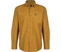 Charter Oxford Herren Langarmhemd braun