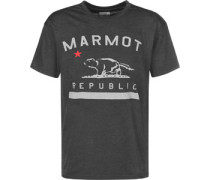 Republic T-Shirt grau meliert