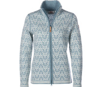 Snow Damen Fleecejacke blau
