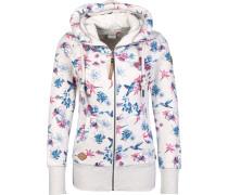 Neka Zip Flower Hooded Zipper Damen weiß meliert