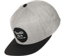Wheeler Snapback grau schwarz