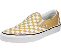 Classic Slip-On Schuhe gelb weiß kariert