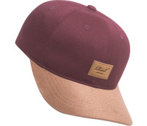 Curved Suede Cap weinrot