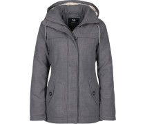 Like You Winterjacke Damen grau meliert