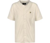 Cotton Linen Kurzarmhemd beige