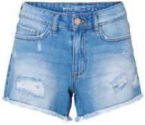 NMBe Fran Nw Raw Edge Shorts Damen blau