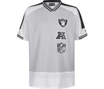 NFL tacked Logo Overized Oakland Raider Herren T-hirt grau