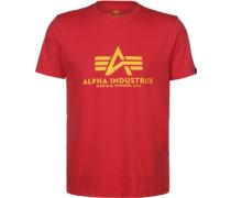Basic T-Shirt Herren rot EU