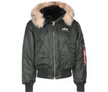 45 P Hooded Jacke grau